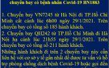 KHẨN: Tìm gần 400 khách đi cùng 2 chuyến bay với bệnh nhân 1883 từ Hà Nội đi TP HCM và ngược lại
